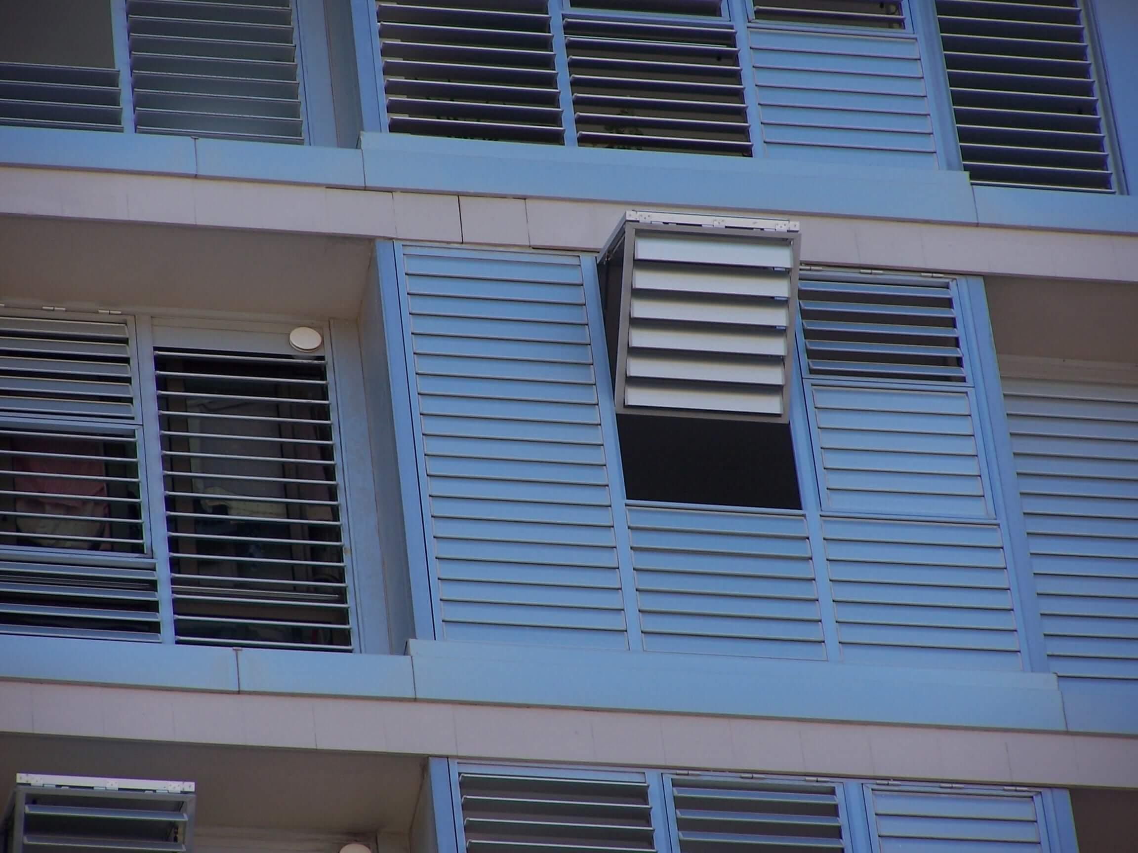 Celosias en edificios Tenerife